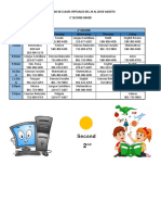 Horario Virtual  Segundo de Primaria Para Estudiantes Agosto 24 - copia (3)