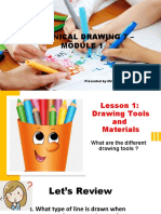 Drawing Tools and Materials Maam len output