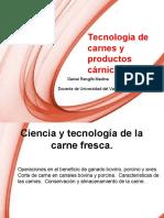 1) Presentación del curso de cárnicos Ciencia y tecnología de la carne fresca 2020