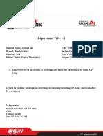 Digital Electronics --ex-1