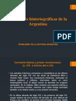 Corrientes historiográficas de la Argentina