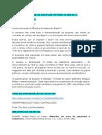 Programa da disciplina Brasil IV