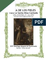 XIV Domingo Después de Pentecostes. Guía de los fieles para la santa misa cantada. Kyrial Orbis Factor