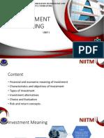 SAPM - UNIT I - INVESTMENT SETTING