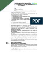 MODELO ESPECIFICACIONES TECNICAS  ARQUITECTURA