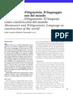 Montessori y Wittgenstein