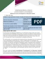 Syllabus del curso Investigación en Educación Infantil