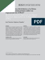 1.3 Entre la firma electrónica y la firma digital aproximaciones sobre su regulación en el Perú