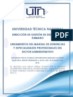 Lineamientos del Manual de Atinencias y Especialidades Profesionales del Sector Administrativo de la UTN(2)