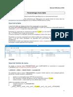 Paramétrage Table