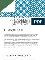 Composición química de los cosméticos (maquillaje)