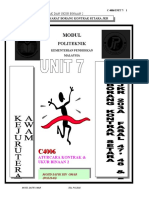 UNIT7 ( PEMBAYARAN KEPADA KONTRAKTOR DAN PERAKUAN INTERIM, PERAKUAN MUKTAMAD, PENAMATAN PENGAMBILAN KERJA KONTRAKTOR DAN TIMBANGTARA )