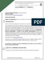 8C GUIA MATEMATICAS FACTORIZACION S1 3P