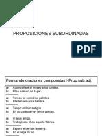 18.PROPOSICIONES SUBORDINADAS