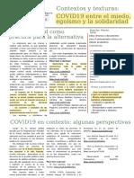 Contextos y Texturas COVID 19