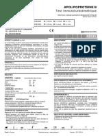 APOLIPOPROTEINES A1-B Test immunoturbidimétrique 2