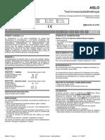 ASLO Test immunoturbidimétrique