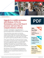 Upgrade to a mobile workstation with Windows 10 Pro for Workstations and an Intel Xeon E processor and save time on compute-intensive activities
