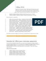 Seriales para Office 2016