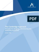 Cambridge Approach to Assessment