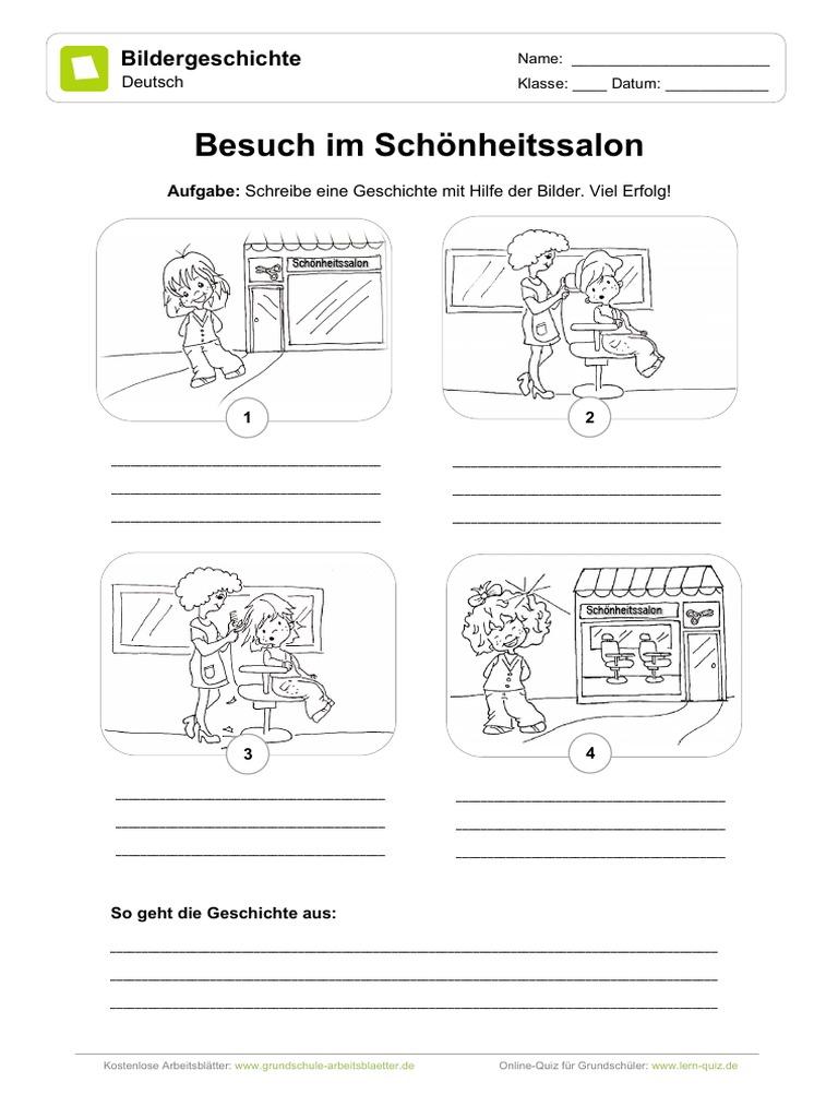 Bildergeschichte Besuch Im Schoenheitssalon