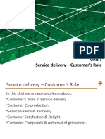 Unit 7_Service delivery_Customers  Role.ppt