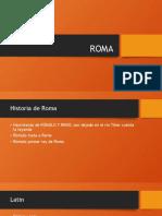 ROMA ppt propio de estudio