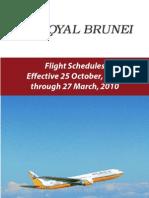 Royal Brunei flight Winter 2009