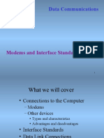 Modems & Interface Standards