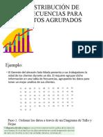 DISTRIBUCIÓN DE FRECUENCIAS PARA DATOS AGRUPADOS 10º