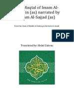 The Maqtal of Imam Al Hussain Narrated By Imam al-Sajjad