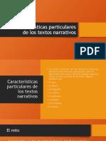 Humanidades II - Características particulares de los textos narrativos