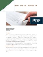 IMPORTANCIA MÉDICO LEGAL DEL CERTIFICADO DE DEFUNCIÓN