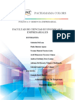 Politica y Gerencia Pachamama Colors