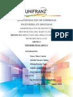ADMINISTRACIÓN DE PROYECTOS Proyecto para minimizar exceso de CO2