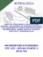 METROLOGIA MICROMETRO
