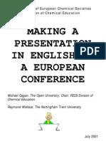 Making a presentation in english at a european