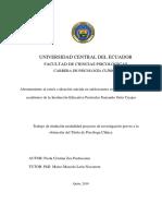 Afrontamiento al estrés e ideación suicida en adolescentes con bajo rendimiento académico de la Institución Educativa Particular Fernando Ortiz Crespo