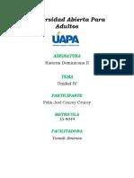 Historia Dominicana II - Unidad IV