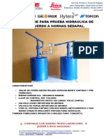 Especificaciones Tecnicas Balde Hidraulico