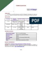 Venu's Resume