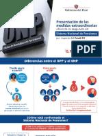 PPT ONP Consejo de Ministros:Presentación de Medidas Extraordinarias a favor de los Asegurados del Sistema Nacional de Pensiones