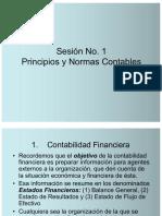 Sesión 1 - Principios contables