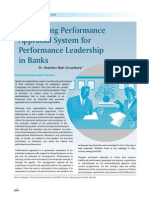 Developing Performance Appraisal System in Banks