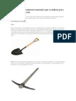 herramientas en construccion