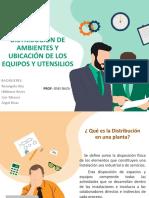 DISTRIBUCIÓN DE AMBIENTES Y UBICACIÓN DE LOS EQUIPOS Y UTENSILIOS 1