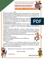 COMUNICADO DE DANZA