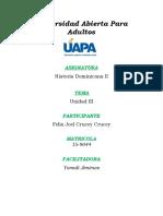 Historia Dominicana II - Unidad III