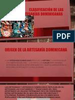 Clasificación de las artesanías dominicanas
