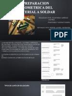 PREPARACION GEOMETRICA DEL MATERIAL A SOLDAR